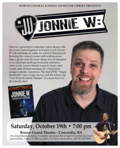 Comedian Jonnie W @ Brown Grand Theatre
