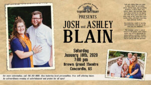 Teens for Christ Presents: Josh & Ashley Blain @ Brown Grand Theatre